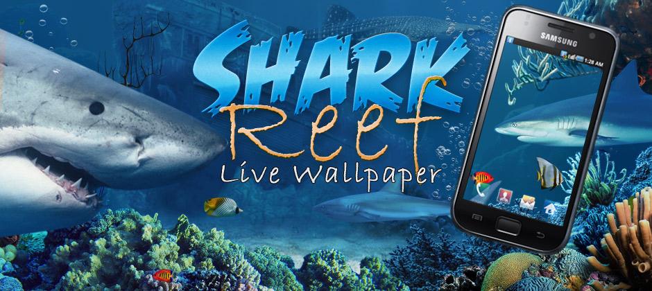 New Shark Reef Live Wallpaper